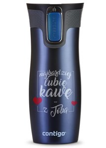 Thermobecher Contigo West Loop 2.0 470ml Snow Stars Monaco Blau