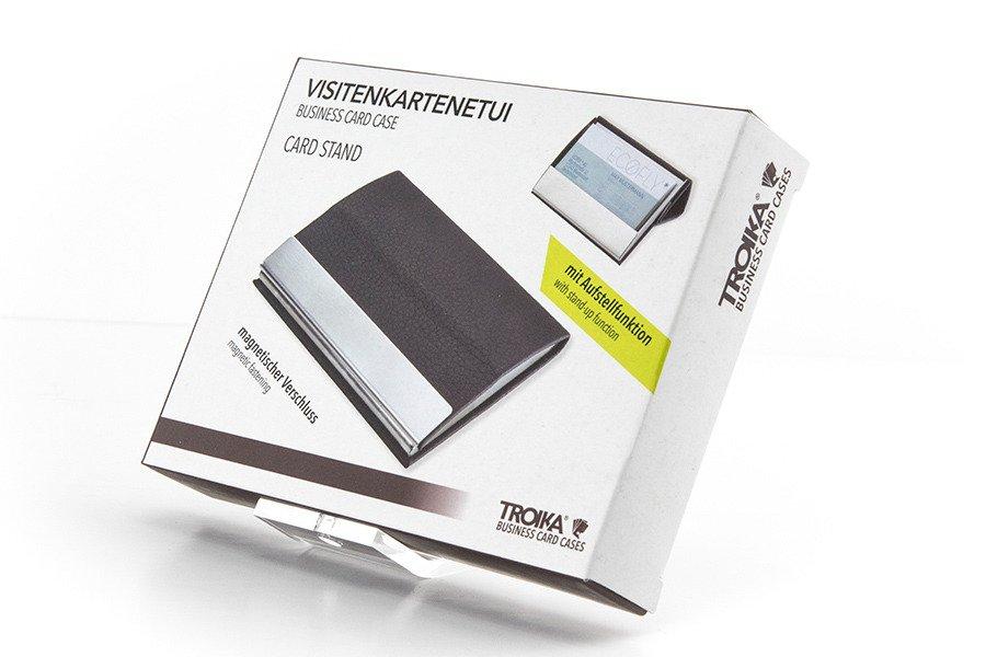 Etui Na Wizytówki Z Magnetycznym Zamknięciem Troika Card Stand Czarne